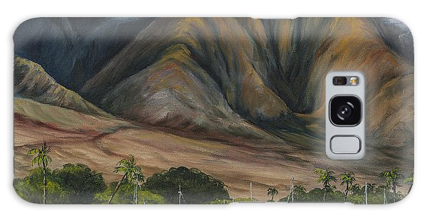 Galaxy Case featuring the painting Golden Light West Maui  by Darice Machel McGuire