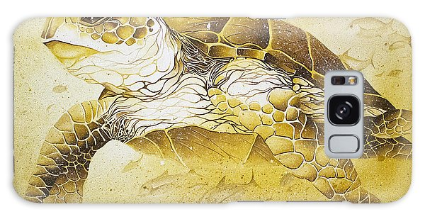 Golden Loggerhead Galaxy Case by William Love