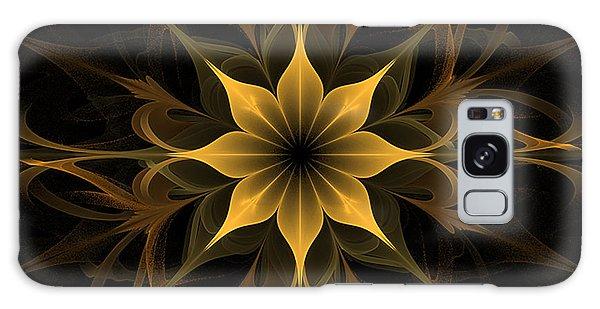 Golden Lotus Swirls Galaxy Case