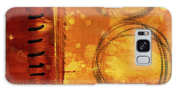 Galaxy Case featuring the painting Golden Marks 10 by Nancy Merkle