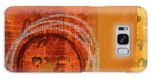 Galaxy Case featuring the painting Golden Marks 11 by Nancy Merkle