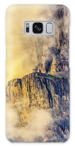 Golden Mist On Cathedral Mountain Galaxy Case