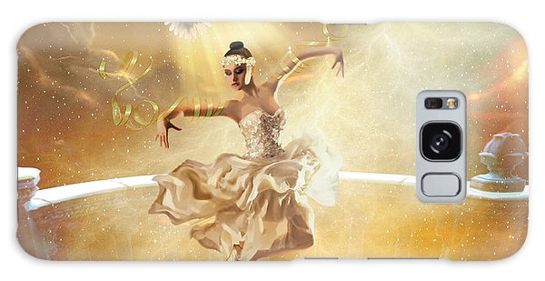 Golden Moments Galaxy Case by Dolores Develde