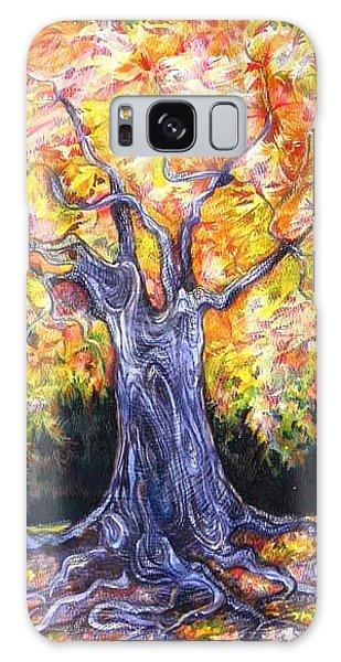 Golden Oak Galaxy Case by Anna  Duyunova