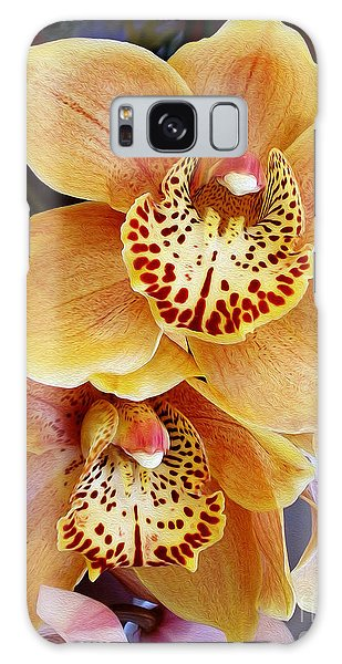 Golden Orchid Galaxy Case