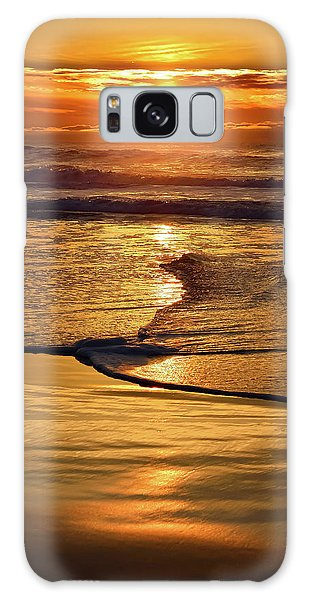 Golden Pacific Sunset Galaxy Case