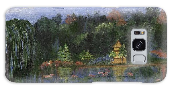 Galaxy Case featuring the painting Golden Pagoda by Jamie Frier
