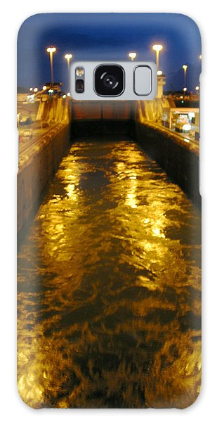 Golden Panama Canal Galaxy Case