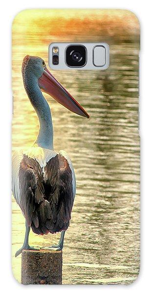 Golden Pelican Galaxy Case