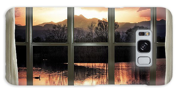 Golden Ponds Bay Window View Galaxy Case