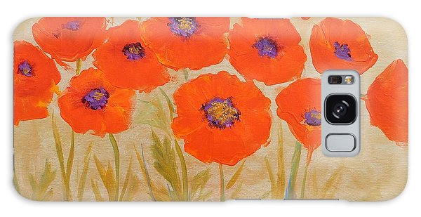 Magical Poppies Galaxy Case