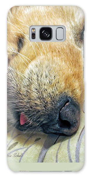Golden Retriever Dog Little Tongue Galaxy Case