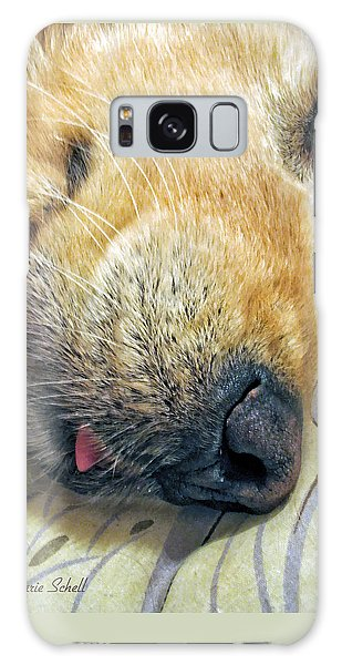 Golden Retriever Dog Little Tongue Galaxy Case