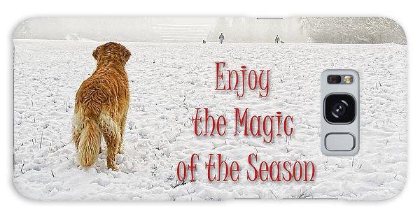 Golden Retriever Dog Magic Of The Season Galaxy Case