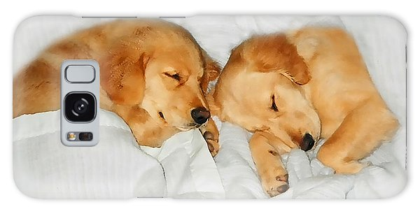 Golden Retriever Dog Puppies Sleeping Galaxy Case