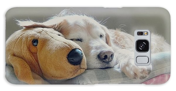 Golden Retriever Dog Sleeping With My Friend Galaxy Case