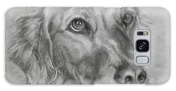 Golden Retriever Drawing Galaxy Case