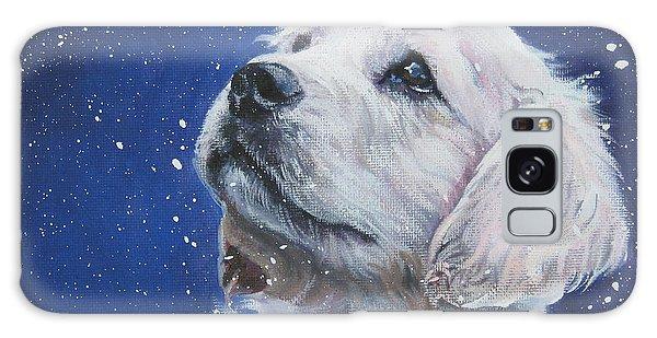 Golden Retriever Pup In Snow Galaxy Case by Lee Ann Shepard