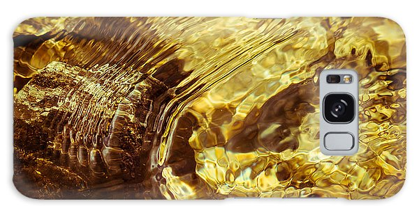 Golden Ripples Galaxy Case