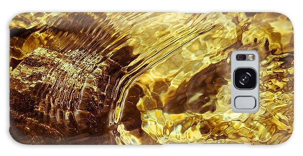 Golden Ripples Galaxy Case
