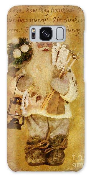 Golden Santa Card 2015 Galaxy Case