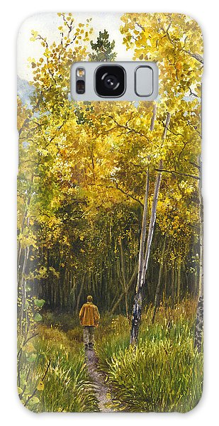 Golden Solitude Galaxy Case by Anne Gifford