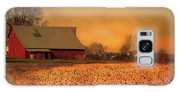 Golden Sunflower Harvest Galaxy Case