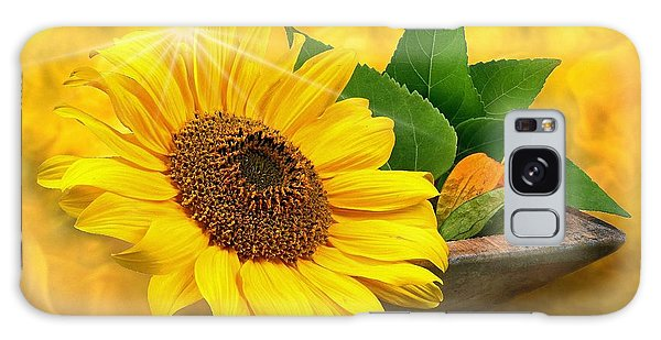 Golden Sunflower Galaxy Case