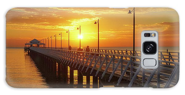 Golden Sunrise Down By The Bay Galaxy Case
