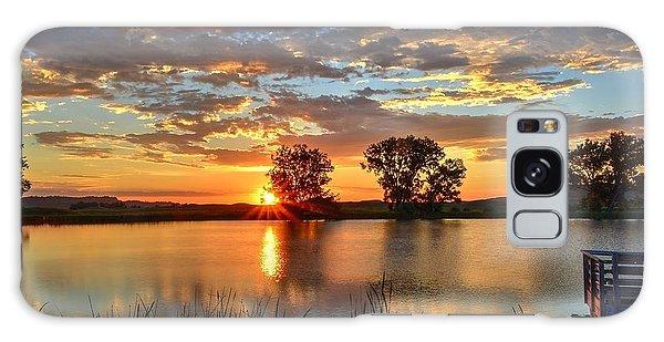 Golden Sunrise Galaxy Case
