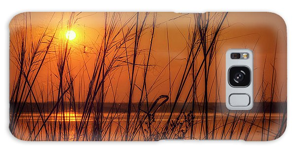 Golden Sunset At The Lake Galaxy Case
