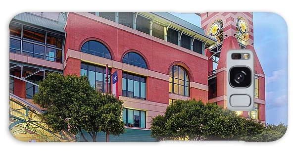 Golden Sunset Glow On The Facade Of Minute Maid Park - Downtown Houston Harris County Texas Galaxy Case