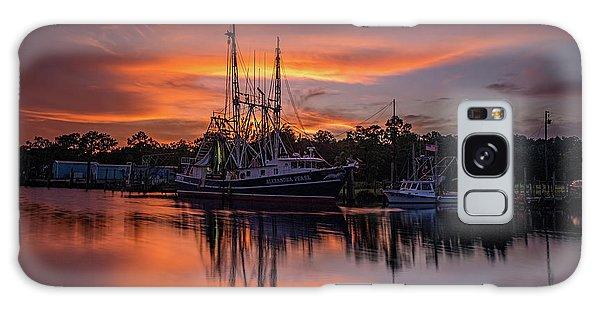 Golden Sunset On The Bayou Galaxy Case