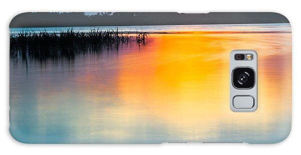 Golden Sunset Galaxy Case by Parker Cunningham