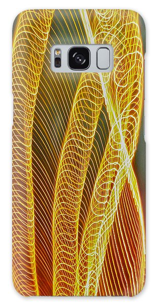 Golden Swirl Abstract Galaxy Case by Sean Griffin