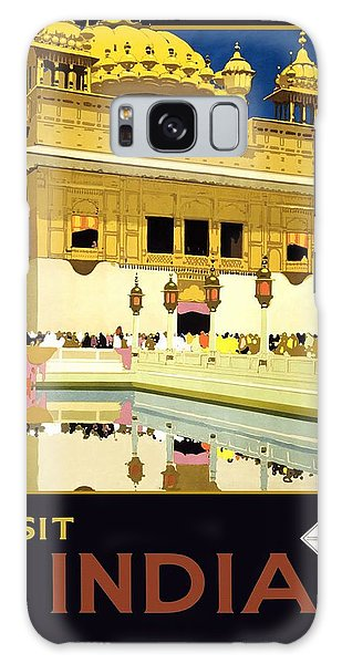 Golden Temple Amritsar India - Vintage Travel Advertising Poster Galaxy Case