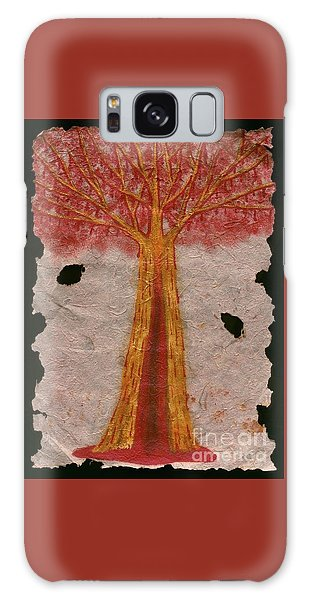 Golden Trees Crying Tears Of Blood Galaxy Case by Talisa Hartley