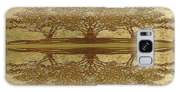 Golden Trees Reflection Galaxy Case