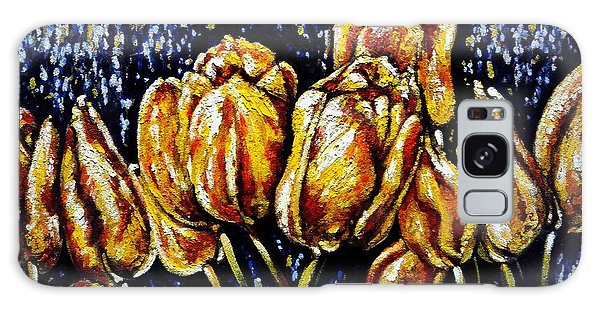Golden Tulips Galaxy Case