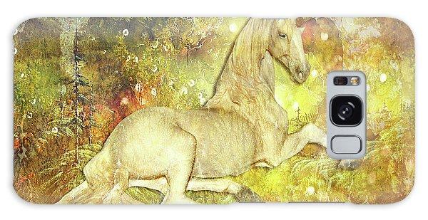 Golden Unicorn Dreams Galaxy Case