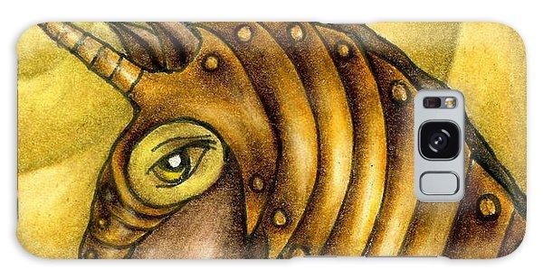 Golden Unicorn Warrior Art Galaxy Case