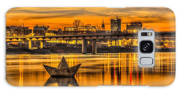 Golden Vistula Galaxy Case by Julis Simo