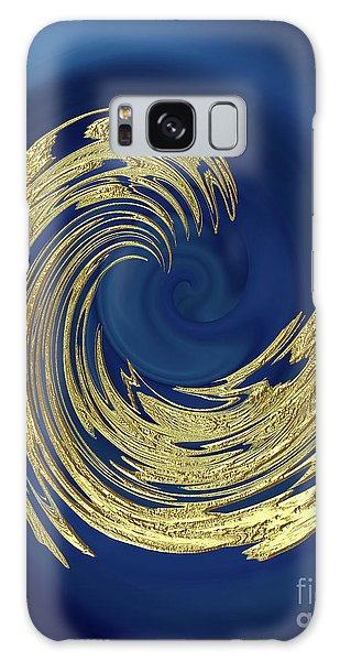 Golden Wave Abstract Galaxy Case