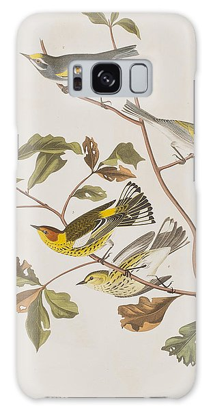 Golden Winged Warbler Or Cape May Warbler Galaxy Case by John James Audubon