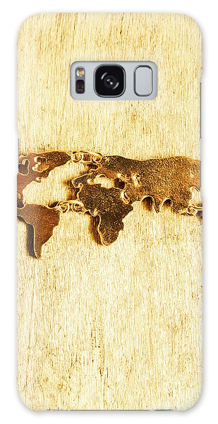 Beautiful Galaxy Case - Golden World Continents by Jorgo Photography - Wall Art Gallery