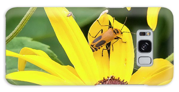 Galaxy Case featuring the photograph Goldenrod Soldier Beetle by Ricky L Jones