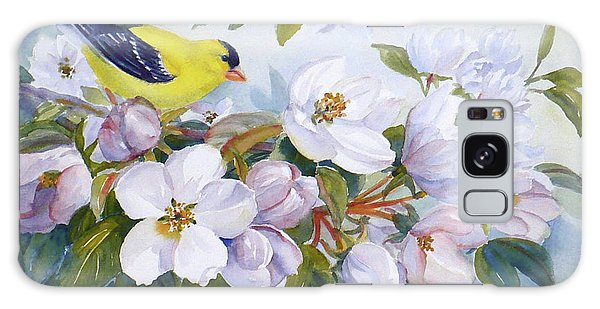 Goldfinch And Crabapple Blossoms Galaxy Case