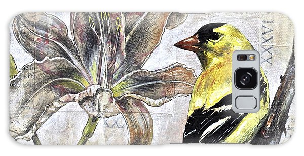 Goldfinch And Lily Galaxy Case