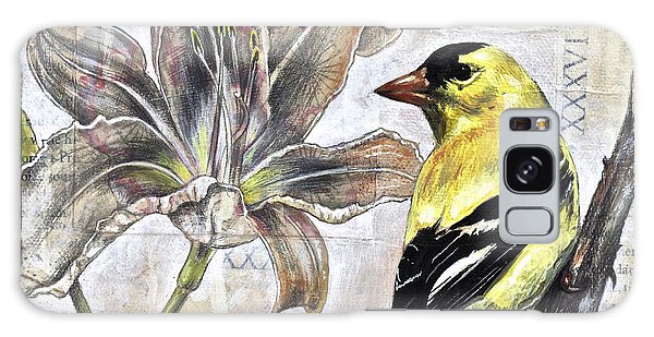Goldfinch And Lily Galaxy Case by Sheri Howe