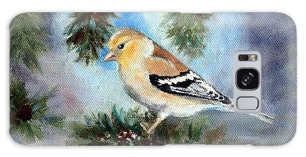 Goldfinch In A Tree Galaxy Case